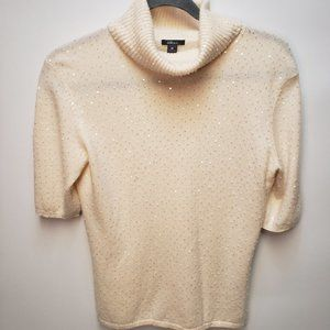Amici 100% Cashmere Sweater Sequin Beaded Size Med